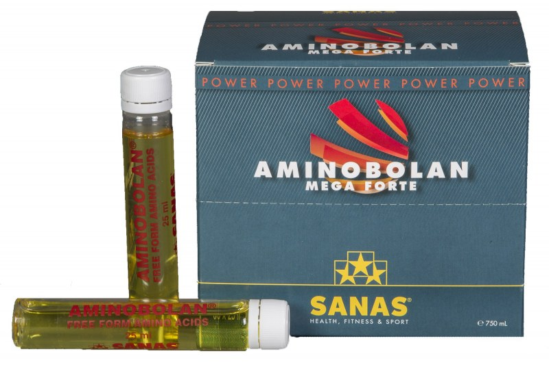 Aminobolan Mega Forte Doos met 30 ampulles